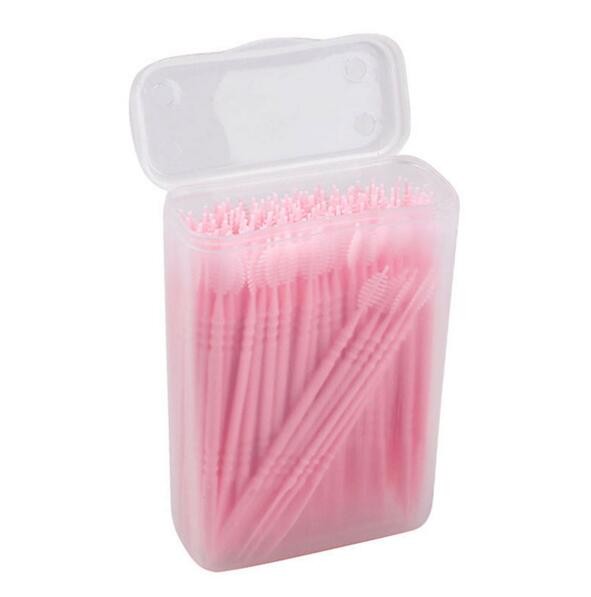150pcs 2 Way Oral Dental Picks Tooth Pick Interdental Brush With Portable Case Portable Tooth Pick
