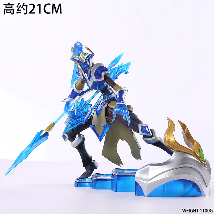 Free Shipping 8 Game Kalista - The Spear of Vengeance Boxed 21cm PVC Action Figure Collection Model Doll Toy Gift free shipping 14 hot game hero caitlyn the sheriff of piltover boxed 35cm pvc action figure collection model doll toy gift