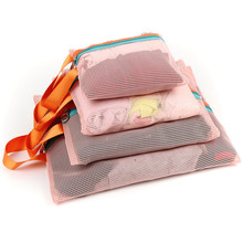 4PCS/lot Cosmetic Bag High Quality Portable Travel Essential Wash Bag Wholesale Bulk Lots Accessories Supplies Products