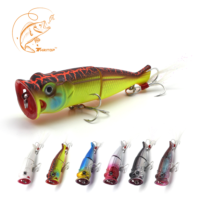 Thritop Fishing Wobblers Artificial Hard Bait TP066 7 Colors for Choose 7cm 11g Professional Popper Fishing Lures Fishing Tools 1pcs 7cm 11g popper fishing lure hard