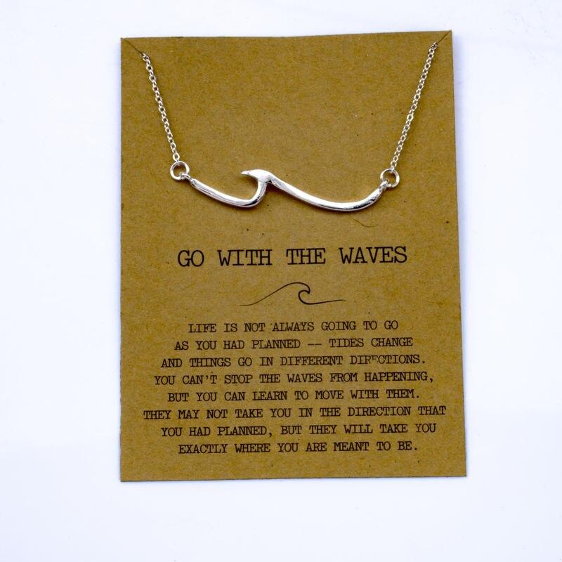 """SanLan 1 шт идут в комплекте ожерелье с подвеской """"волны"""" Океан ювелирные изделия - Окраска металла: 23"""