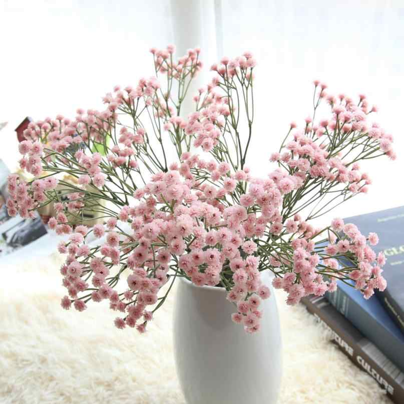 Colorful Artificial Fake Silk Gypsophila Baby/'s Breath Flower Wedding Bouquet US