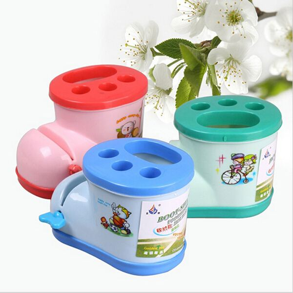 Bathroom Shelf Boots Toothbrush Holder Plate With Toothpaste Squeezer Holders Shelves For Kitchen Storage Rangement Cuisine image