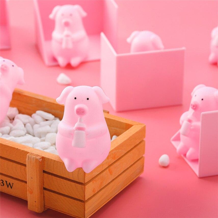 Tops Qualität 10 Stücke Nette Cartoon Rosa Schwein Spielzeug Prise Es Machen Pfeife Dekompression Spielzeug Geschenke Juguete Exprimible Y * Attraktiv Und Langlebig