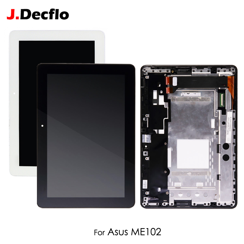 LCD Display For Asus MeMO Pad 10 ME102 ME102A K00F FPC-V2.0 V3.0 4.0 1.0 Touch Screen Digitizer with Frame Assembly Replacement 10 1 inch for asus memo pad 10 me103 me103k lcd display with touch screen assembly free shipping