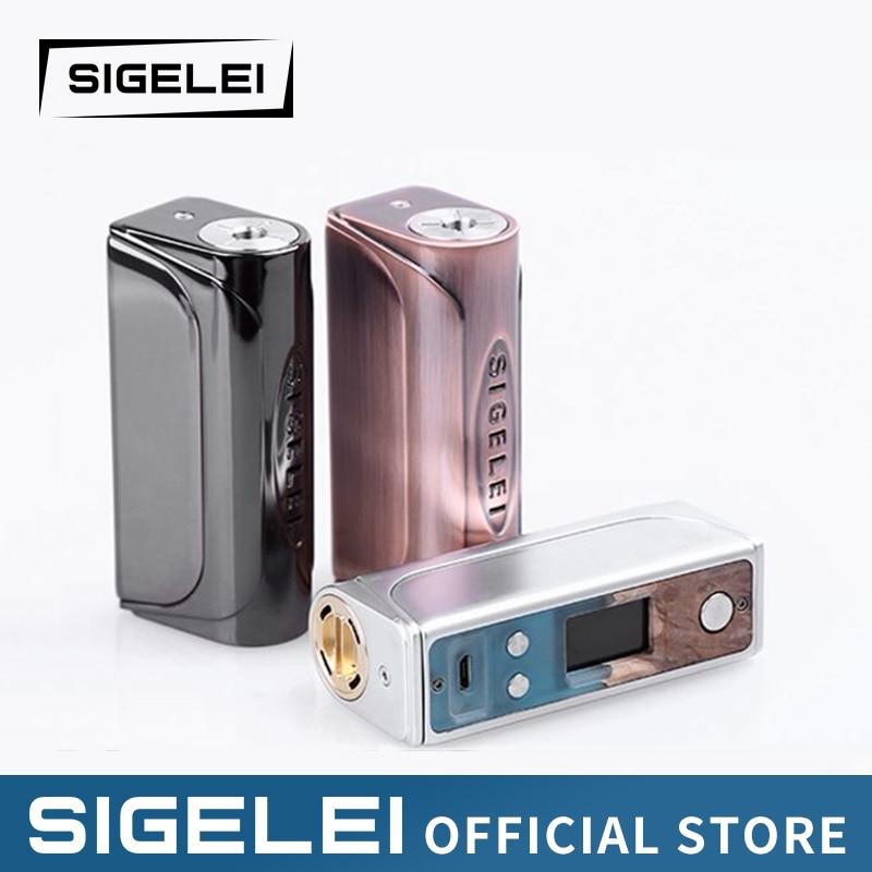Vape mod bois Stable & alliage de Zinc électronique e Cigarette Sigelei Evaya 66 W le plus populaire vape mod 1*18650 une batterie
