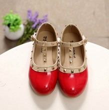 New Fashion Girls Sandals Kids Boots Children Rivets Pu Shoes 4colors  Casual Sandals For 2- b4165e4b6573