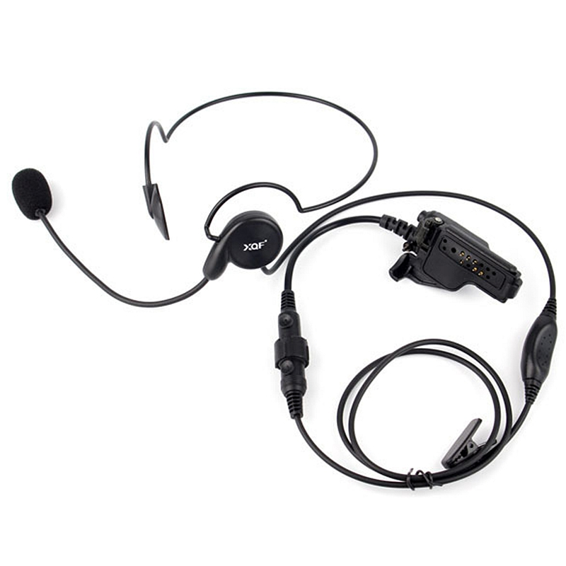 Advanced Unilateral Headphone Mic Neckband Earpiece Cycling Field Tactical Headset For Motorola Radio HT1000 XTS1500 XTS2500