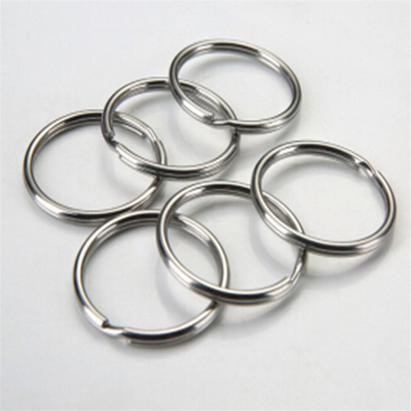 50pcs 12/15/20/25/28/30/32/38mm Keychain Connector Circle Keyring Findings Fit DIY Keychain Rings Circles Accessories