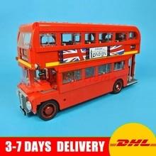 DHL в наличии Лепин 21045 Лондонский автобус комплект строительство модель образования детей Блоки кирпичи Игрушечные лошадки подарок 10258
