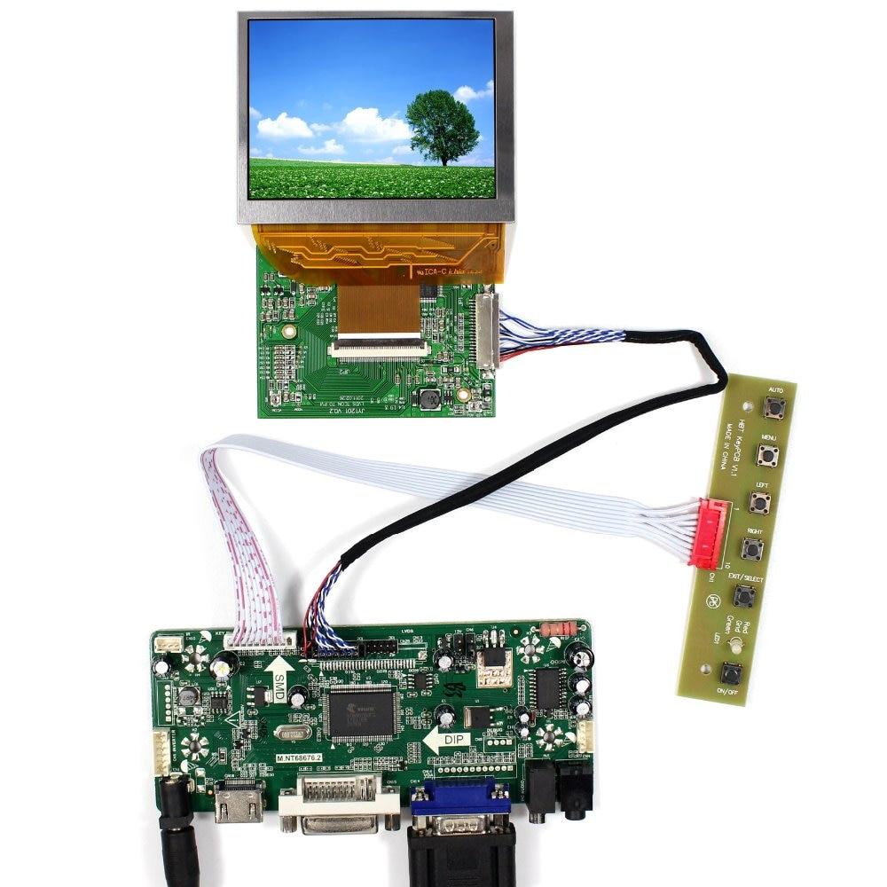 HDMI DVI VGA Audio LCD Controller Board+LVDS Tcon Board+3.5 PD035VX2 640x480 LCD Screen