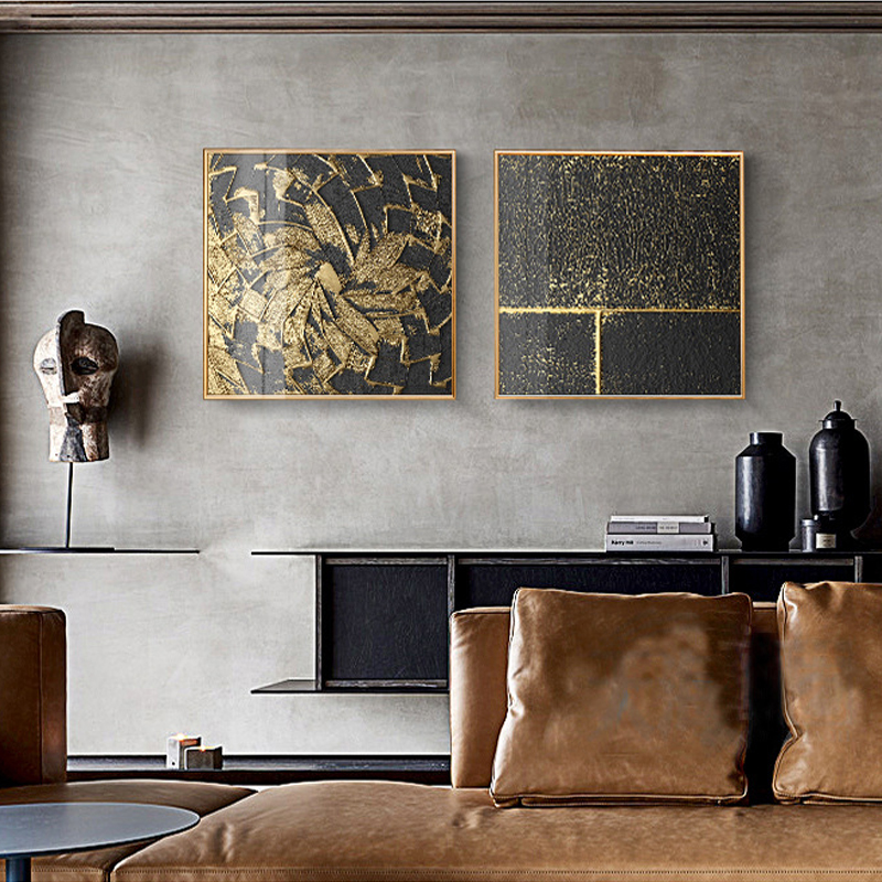 Abstract Gold Black White Modern Square Texture Canvas Painting Posters And Prints Home Decor Wall Art Abstract Gold Black White Modern Square Texture Canvas Painting Posters And Prints Home Decor Wall Art Pictures For Living Room