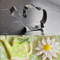 NEW! watering pot stainless steel sugar cookie cutter mold