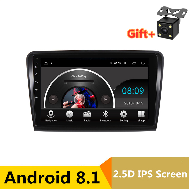 "10.1"" 2.5D IPS screen Android 8.1 Car DVD GPS For Skoda Superb 2 2009 2010 2011 2012 2013 audio stereo car radio headunit wifi"