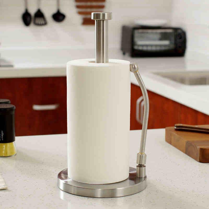 Nouveau style européen haute 330mm cuisine en acier inoxydable forte porte-papier populaire porte-rouleau papier-3014