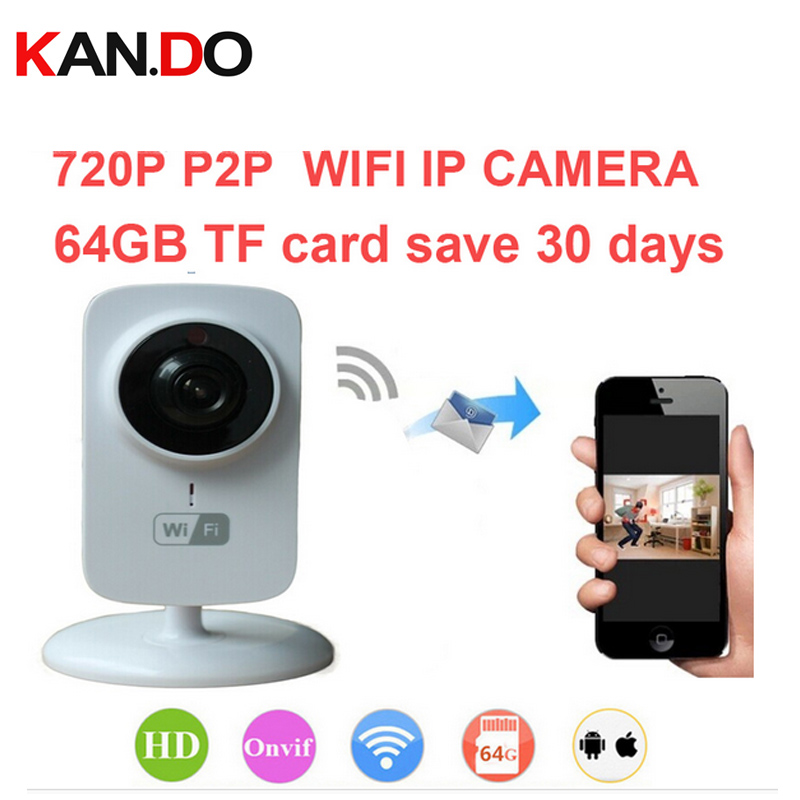 64Gb save 30 day 720P H.380 WiFi IP Camera Remote Home Security Surveillance System Onvif P2P network camera Video Surveillance ip66 sn nvk 6004w10 onvif p2p 1 4 ov9712 720p day