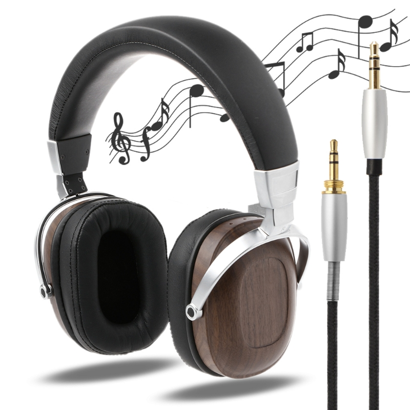 1 PC BOSSHIFI B8 Stereo Wooden Over-ear Black Mahogany Earphone Headphone Headset цена и фото