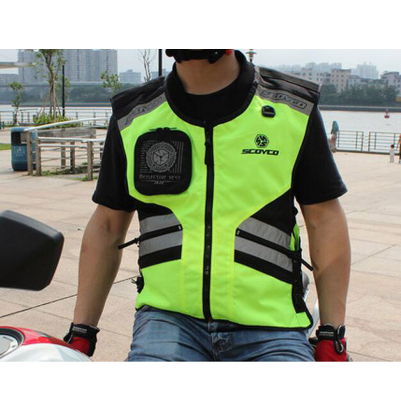 2018 New SCOYCO Motocross Motorcycle riding reflective vest safety Knight motorbike vest can regulate four seasons size M XXL adjustable pro safety equestrian horse riding vest eva padded body protector s m l xl xxl for men kids women camping hiking
