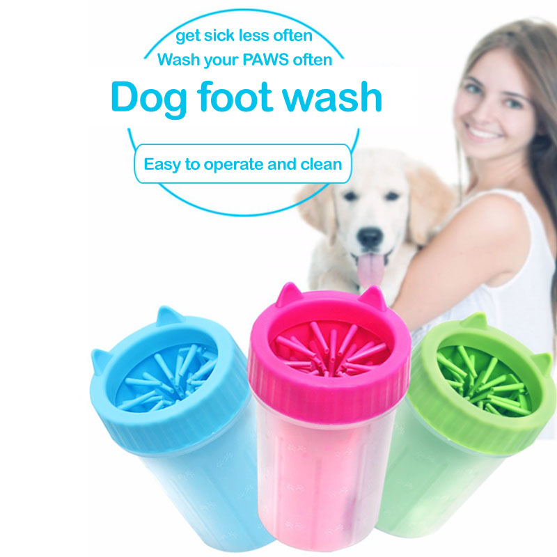 Pet Cats Dogs Foot Clean Cup For Dogs Paw Cleaner Soft Silicone Washing Brush Clean Paws
