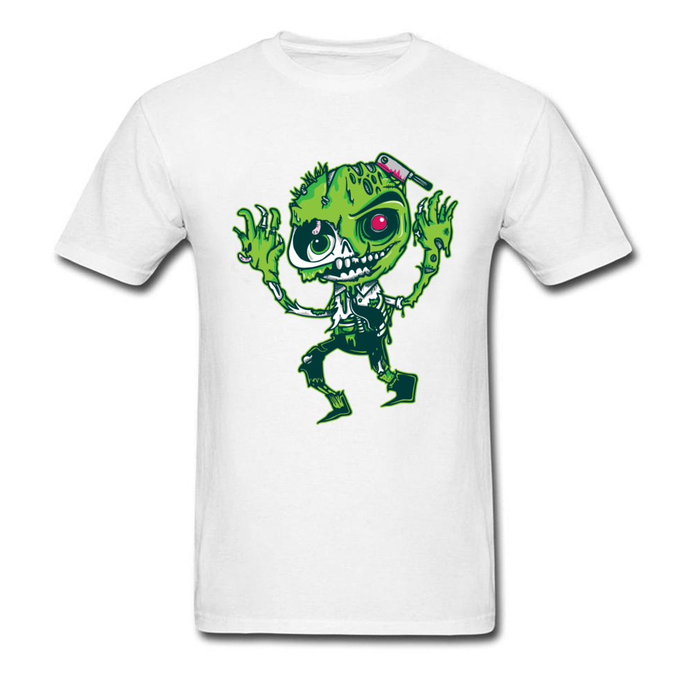 2018 Cool Horror Movie T Shirts Men 100% Breathable Cotton Fabric Clothes Shirt Plant Zombie Attack T-Shirt Summer Top & Tees