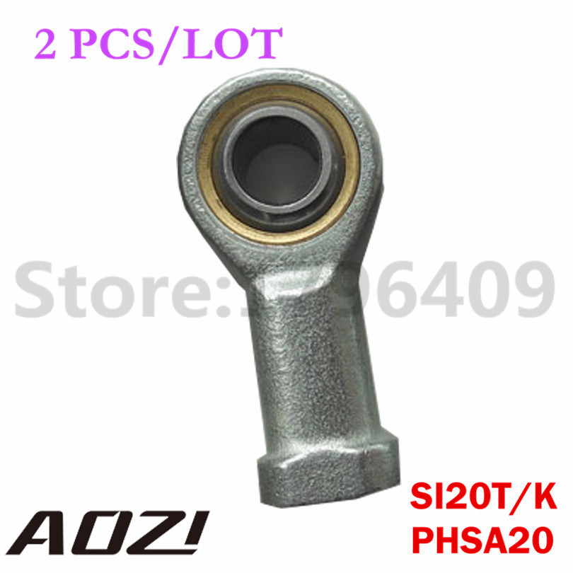 SI20T/K Female Threaded Rod End Right Hand Threaded Ball Joint PHSA20  2PCS/LOT High Quality