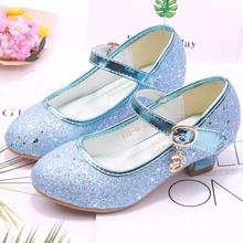 SKHEK Glitter Girls Sandals High Heel Kids Shoes For Children Party Shoe Wedding Dress Enfant Summer Spring Autumn