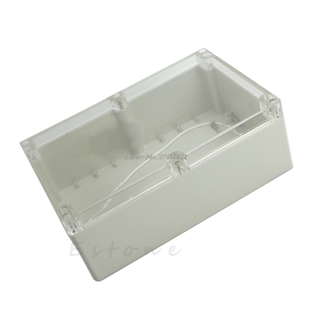 Hot 230x150x85mm Waterproof Clear Plastic Electronic Project Box Enclosure CASE 200x120x75mm waterproof clear plastic electronic project box enclosure case l057 new hot