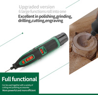 Lithium Battery Dremel Tool Variable Speed Rotary Tool Electric Mini Drill 6 Speed Grades With 13