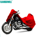 Red L XXXL Motorcycle Cover Waterproof Dustproof Cover Sportster Touring Bike Cruiser For Harley Suzuki Honda Winter Summer