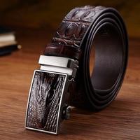 Men Belt Men S 100 Cowhide Genuine Leather Belt Vintage Crocodile Men Belts Luxury Designer Business