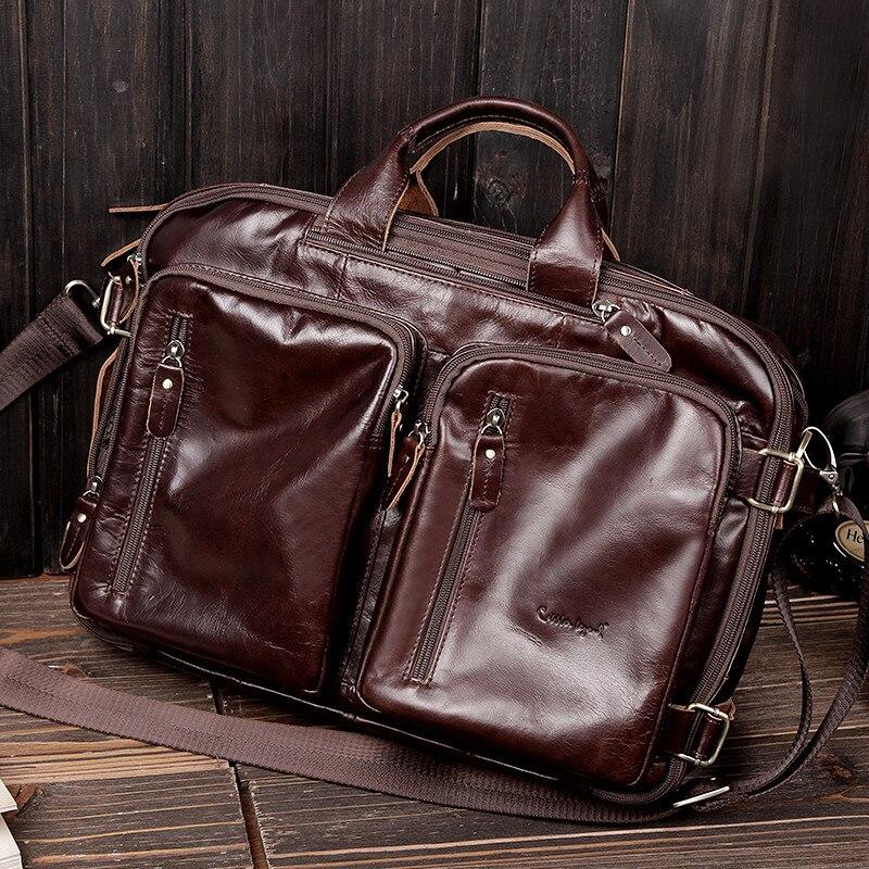 Szewc legenda Crossbody torby dla mężczyźni torby torba na Laptop teczki marki prawdziwej skórzana teczka dla człowieka skórzana torba na laptopa torba podróżna w Teczki od Bagaże i torby na  Grupa 1