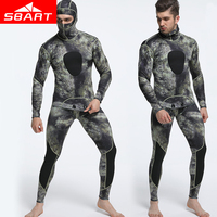 SBART Professional 1.5MM Neoprene Wetsuit Men Pesca Diving Spearfishing Wetsuit Two Piece Diving Suit Surf Snorkel Swimsuit