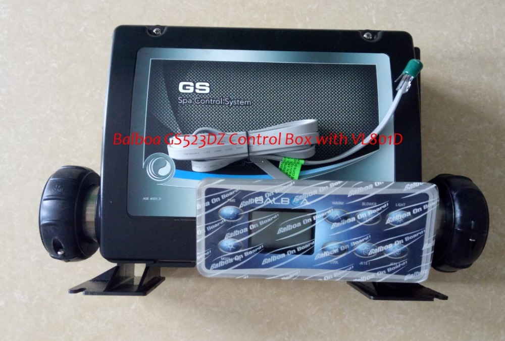 Spa conroller Balboa GS523DZ Control Box with VL801D topside panel,suitable to spas with 3 pumps,heater,blower,light,ozone