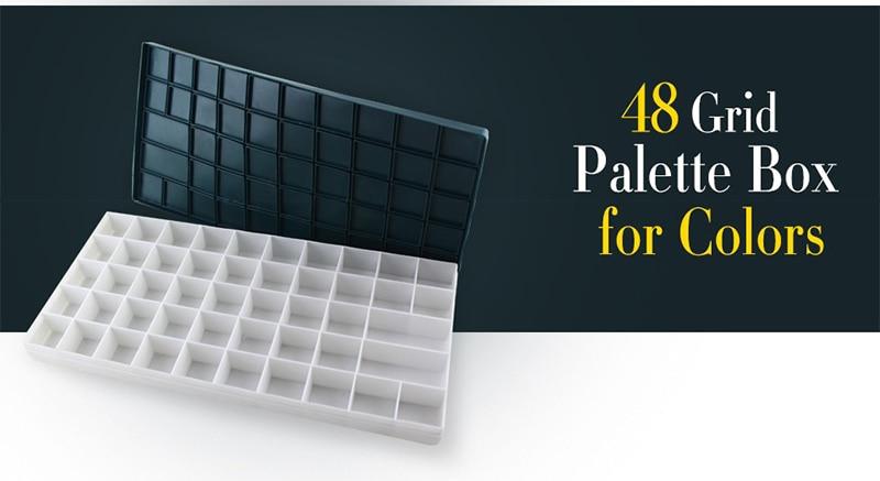 48 grid plastic box painting school supplies goate palette watercolor palette art supplies цена