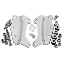 Motorcycle Black/Chrome 4 Point Docking Hardware Kits For Harley Touring Street Glide Road King 2009-2013