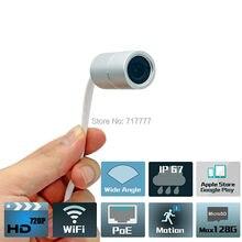 1MP impermeable al aire libre IP67 WIFI inalámbrico poe Estenoscopio oculta cámara IP Onvif p2p IOS y Android APP