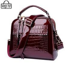 Elegant Patent Leather Women Handbag Women Shoulder Bags Classy High Quality Women Leather Handbags Tote Female Women Bag A197/l