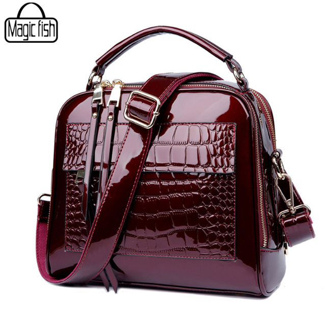 2df78f5786 Elegant Patent Leather Women Handbag Women Shoulder Bags Classy High  Quality Women Leather Handbags Tote Female