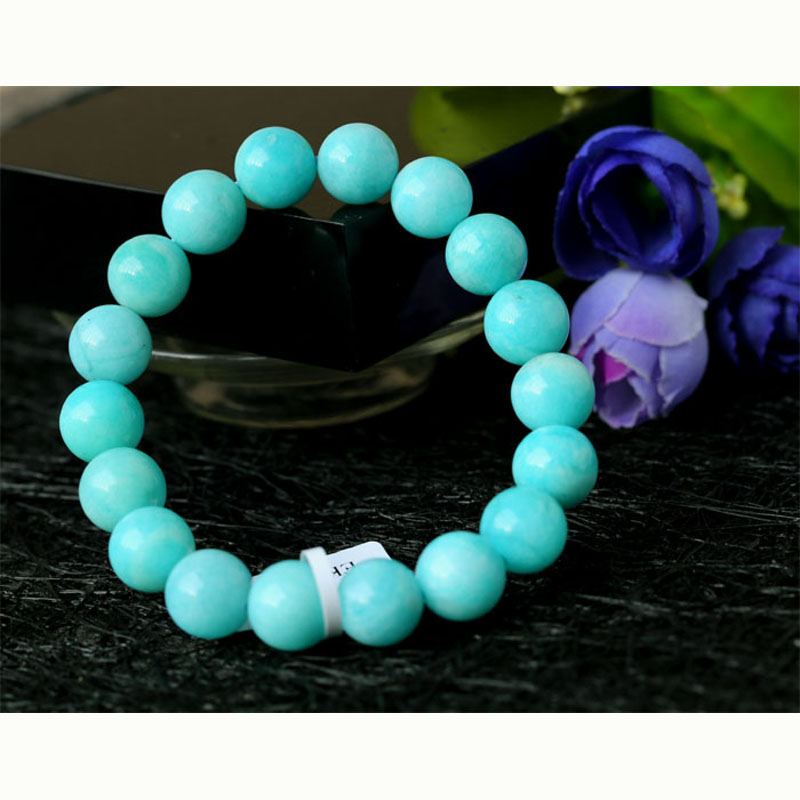 Open-Minded Wholesale High Quality Genuine Natural Peru Blue Amazonite Stretch Finished Beaded Bracelet Round Loose Beads 10mm Save 50-70%