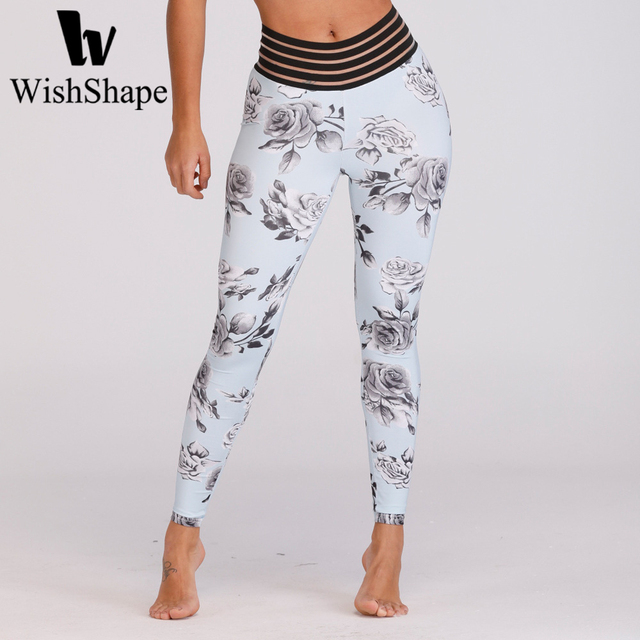 2a1db06e6324d Sexy 3d Floral Print Leggings Push Up Running Tights Women Yoga Pants Booty  Scrunch Fitness Leggings Flower Gym Sport Trousers