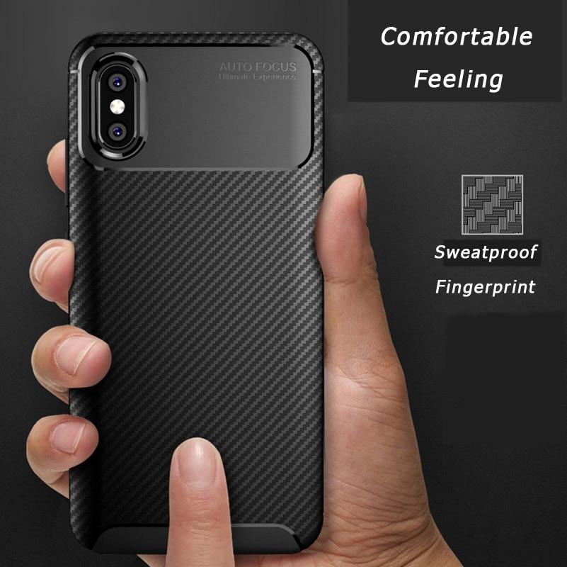 Mi 9 SE Ultra Thin Cover For XiaoMi Mi 9 8 SE Lite Mix 3 Redmi Note 6 Carbon Fiber Luxury Case for xiaomi 9 SE 8 Lite Back Shell