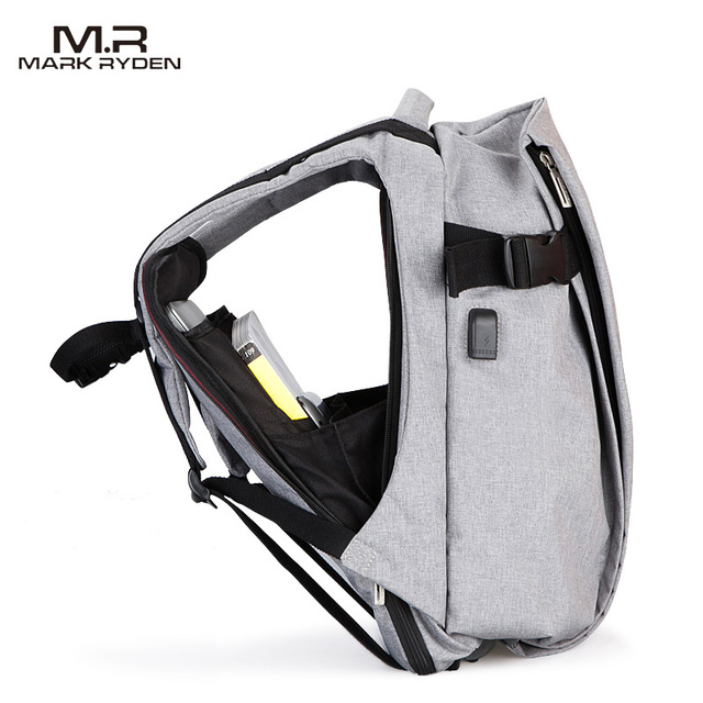 2017 마크 Ryden 새로운 도착 남성 16 인치 노트북 백팩 패션 Mochila 레저 여행 배낭 학교 배낭