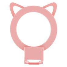 Селфи свет USB для iPhone 7×8 6 Plus милый кот светодиодной вспышке Selfie кольцо света Камера Портативный селфи LED камера свет для смартфонов
