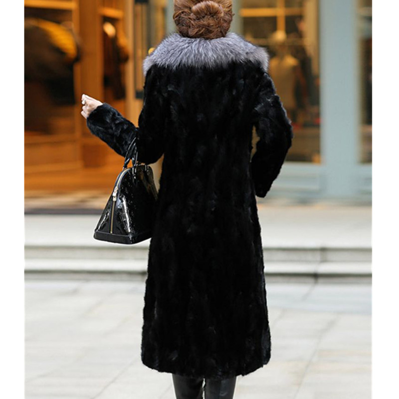 معطف الأسود تقليد Natural