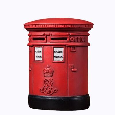 Britannico Postbox Adulto Piggy Bank Resina Deposito Box Per Bambini Scatola Di Risparmio Di Denaro Bank Bank Sicurezza Automatica Della Cauzione Banconota 50a019 I Consumatori Prima
