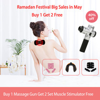 FOUAVRTEL 2019 Newest Electronic Therapy Body Massage Gun High Frequency Vibrating Massage Gun Body Relaxing Gun Relief Pains
