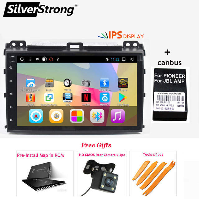 SilverStrong 2Din IPS Android8 1 GPS Car Radio For TOYOTA