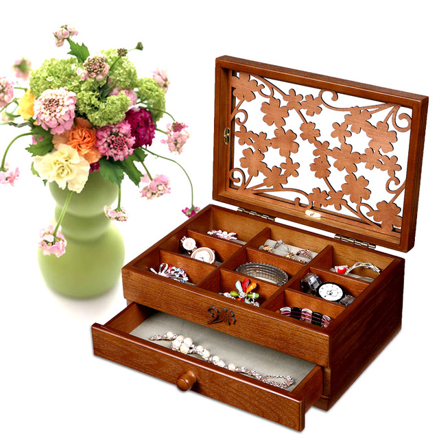 2017 Limited Storage Box Organizer Organizador Wooden Jewelry Box