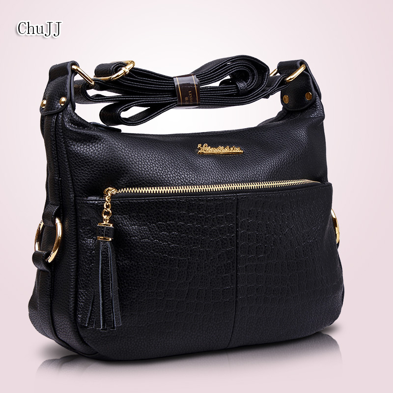 Women's Genuine Leather Handbags All-match Shoulder CrossBody Bags Fashion Tassel Messenger Bag Solid Color Hobos Women Bags all match genuine leather women handbags designer tassel female shoulder bags rivet bag woman crossbody bag studs ladies