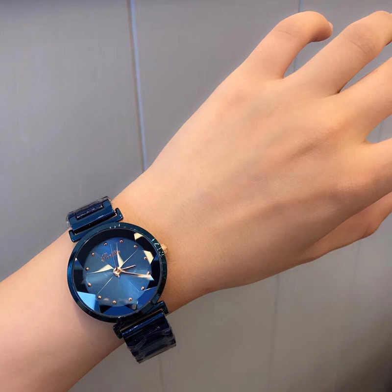 عالية الجودة اليابان ساعة يد تعمل بالحركة المرأة الكلاسيكية بسيطة السيدات الوردي الذهب الصلب سوار فستان المعصم سطح لامع اللون